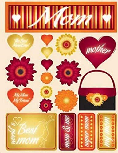 2 Sheet Scrapbooking Crafts Stickers 3D Best Mom Title Mother Purse Flowers My Friend Decorative Crafts tokoriverside