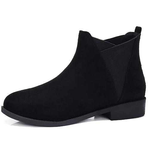 CAMEL CROWN Botines Mujer Chelsea Boots Pull-on Botas Antideslizante Cómodo para Casual Diario Compras Negro Taupe Beige EU37-42: Amazon.es: Zapatos y ...