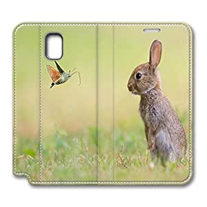 2015 popular VUTTOO Samsung Galaxy Note 3 Case, Note 3 Case - PU Leather Flip Folio Book Style Wallet Protective Case for Note 3 Cute Bunny Stylish Pattern Samsung Galaxy Note 3 Leather Case