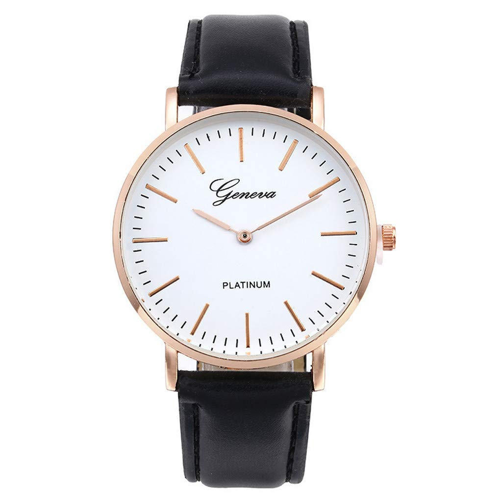 Hotkey Mens Bracelet Watches On Sale Retro Simple Leather Band Watch Analog Ultra Thin Quartz Wrist Watch