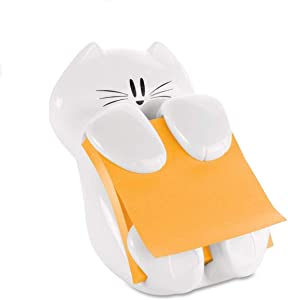 Post-it Pop-Up Note Dispenser Cat Shape, 3 x 3, White