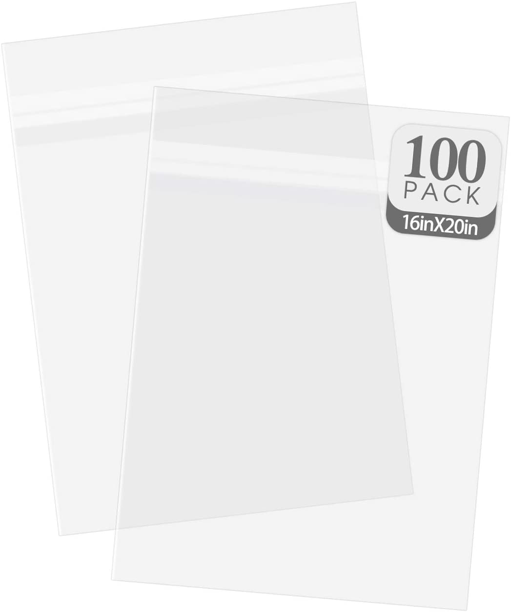 Golden State Art, Pack of 100, Acid-Free Crystal Clear Sleeves Storage Bags for Photo Prints Framing Mats Mattes (Bag Size: 16 3/8x 20 1/8 inches for 16x20 Mats)