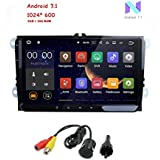 Freenavi VW Golf Polo Passat Tiguan Jetta, 9 inch Capacitive Touch Screen Android 7.1 Double 2 Din Car Stereo GPS Navigation EOS Camera
