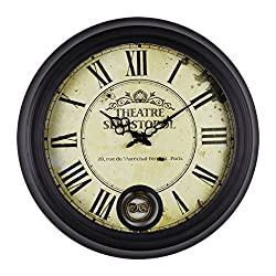European retro fashion wall clock bar Cafe living room mute art pendulum clock family decoration clock,large