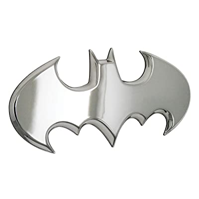 Fan Emblems Batman Car Badge, Chrome Batwing Logo 3D Automotive Sticker Decal, Flexes to Fully Adhere to Most Smooth Surfaces - Vehicles, Laptops, Windows, Almost Anything: Automotive [5Bkhe2012913]