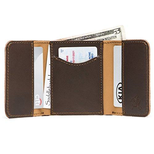 Classic Leather Classic Wallet - Saddleback Leather Co. Classic Full Grain Leather Trifold Wallet for Men RFID-Shielded Includes 100 Year Warranty