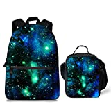 Cute Galaxy Pattern School Bag Lunch Bag for Teenagers Boys Girls