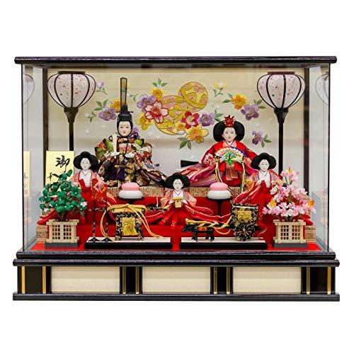 雛人形 五人飾り ケース入り 幅57cm [fz-218] ひな人形   B07K81561M