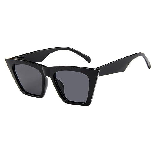 4990ee582d LUCA Oversized Sunglasses for Women Men Vintage Retro Cat Eye Sun Glasses( Black