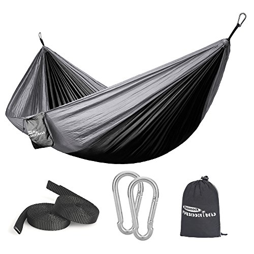 Forbidden Road Camping Hammock Single & Double Net Hammock Capacity 330lbs Lightweight Portable...