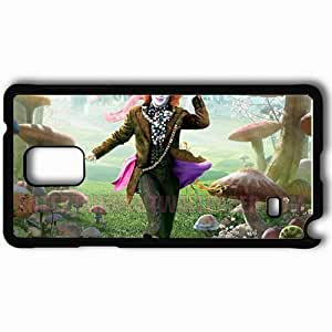Personalized Samsung Note 4 Cell phone Case/Cover Skin Alice in wonderlandfunnydeppmad hatter movies Black