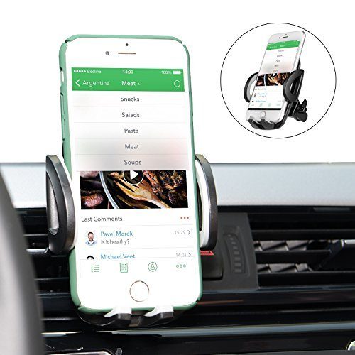 Car Mount, Amoner Universal Car Air Vent Holder, 360 Rotation with Release Button for iPhone X/8 Plus/8/7 Plus/7/6s/SE, Samsung Galaxy and other Smartphones and GPS devices
