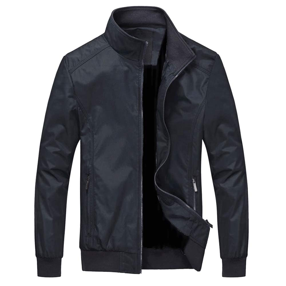 Kedeame Men's Work Active Lightweight Softshell Zipper Bomber Jacket