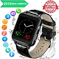 Reloj inteligente, relojes inteligentes, reloj inteligente para teléfonos Android, reloj de pulsera inteligente con pantalla táctil con cámara, Bluetooth, reloj de teléfono, teléfono móvil