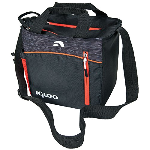 igloo-00059964-stowe-mini-city-insulated-soft-cooler-9-cans-black-orange