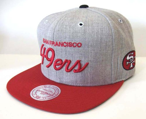 ... switzerland san francisco 49ers mitchell ness script snapback cap hat  wool red 82a8c d95a7 ... 57bc5a28c14c