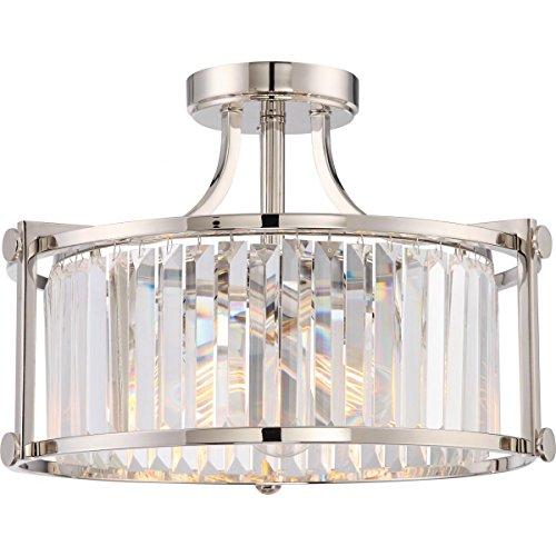 5-Light Hanging Industrial Chandelier Light Fixture - Iron Bronze Finish - Set of 1