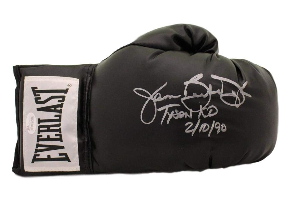 Buster Douglas Autographed Everlast Black Boxing Glove Tyson KO JSA