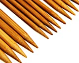 "Stanwood Needlecraft Carbonized Patina 9"" Double Point Bamboo Knitting Needles 14 Sizes (70 Pieces)"