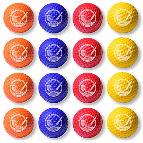 GoSports Foam Golf Practice Balls - 16 Pack | Realistic Feel and Limited Flight | Use Indoors or ()