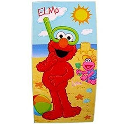 Sesame Street Plaza Sesamo Fiber Reactive Beach Towel Elmo