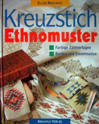 Kreuzstich Ethnomuster. Borten und Einzelmotive