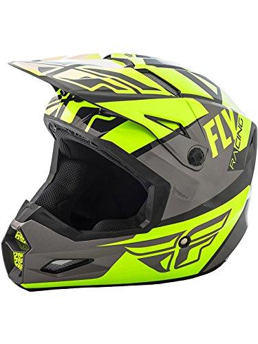 Fly Racing Gloss Hi-Vis-Grey-Black 2018 Elite Guild Mx Helmet (M , (Fly Racing Mx)