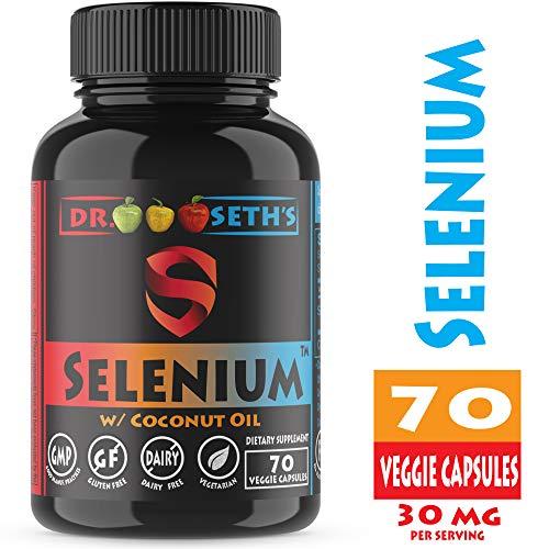 (Premium Selenium 200mcg ~ Pure Selenium Organic Sunflower Oil & Coconut Oil – Selenium Supplements ~ Pure Selenomethionine 200mcg ~70CT~ l Selenium for Women & Men ~ Selenium 200 ~ Selenium for Kids)