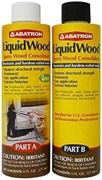 Abatron Liquidwood Kit Epoxy Wood Consolidant 6 Oz Each Part A B Adhesives Sealers Amazon Canada