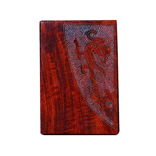 - Jinfengtongxun Cigarette Box, Indian Lobular Rosewood Cigarette Case with Silver Men's 20 Packs Portable Chinese Style Mahogany Cigarette Box, High-end Gifts (Color : Red, Size : 10.55.62.1CM)