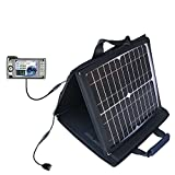 Gomadic SunVolt High Output Portable Solar Power Station designed for the Mio 269 Plus - Can charge multiple devices with outlet speeds