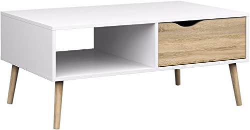 Tvilum Diana Coffee Table, White Oak