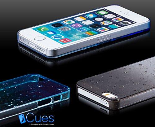 iCues Apple iPhone 5/5S/SE Water Drop Cover - Schwarz - Täuschend echtes Wassertropfen Design + Displayschutzfolie