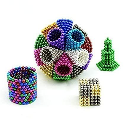 5 MM 1000 Pieces Magnetic Balls Cube Multi-Color Fidget Gadget Toys Rare Earth Magnets Office Desk Toy Desk Games Magnet Toys Magnetic Beads Stress Relief Toys 10-14 Days Delivery 10 Colors