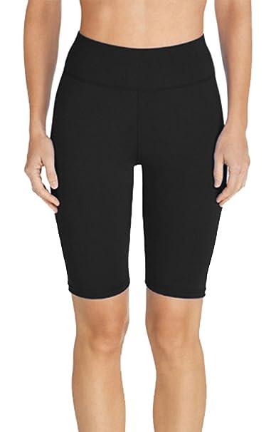 Amazon.com: seagoo para mujer pantalón corto cintura alta ...