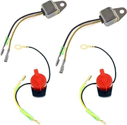 QAZAKY Sensor de alerta de bajo nivel de aceite + encendido ...
