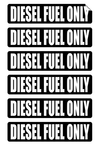 6-Pc Rousing Unique Diesel Fuel Only Window Stickers Sign Mac Macbook Laptop Luggage Hoverboard Wall Graphics Safety Gas Oil Labels Vinyl Art Sticker Decal Patches Size 3/4
