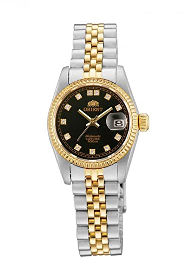 """Orient """"Oyster"""" Classic automático Sapphire de dos tonos oro damas reloj nr16002b"""