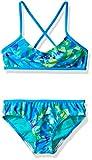 Speedo Girls Tie Dye Sky Two Piece Bikini Set, Size 12, Blue
