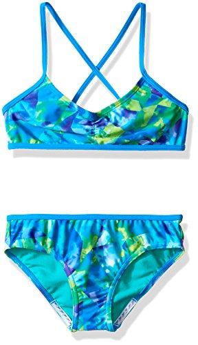 Speedo Girls Tie Dye Sky Two Piece Bikini Set, Size 16, Blue