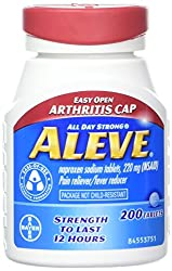 Aleve Tablets With Easy Open Arthritis Cap, Naproxen Sodium, 220mg (Nsaid) Pain Relieverfever Reducer, 200 Count (Pack Of 2)