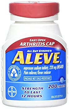 Aleve Tablets With Easy Open Arthritis Cap, Naproxen Sodium, 220mg (Nsaid) Pain Relieverfever Reducer, 200 Count (Pack Of 2) 0