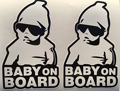 Cut Hoody - 2 Baby On Board with Hoodie Die Cut Decals by SBD DECALS
