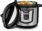 Gourmia GPC1000 Smart Pot Electric Digital Multifunction Pressure Cooker, 13 Programmable Cooking Modes, 10 Quart Stainless Steel, with Steam Rack, 1400 Watts- Includes Free Recipe Book - 110V (6 QT)
