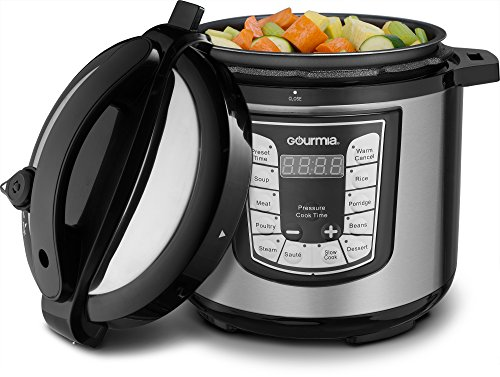 t Pot Electric Digital Multifunction Pressure Cooker, 13 Programmable Cooking Modes, 10 Quart Stainless Steel, with Steam Rack, 1400 Watts- Includes Free Recipe Book - 110V (6 QT) ()