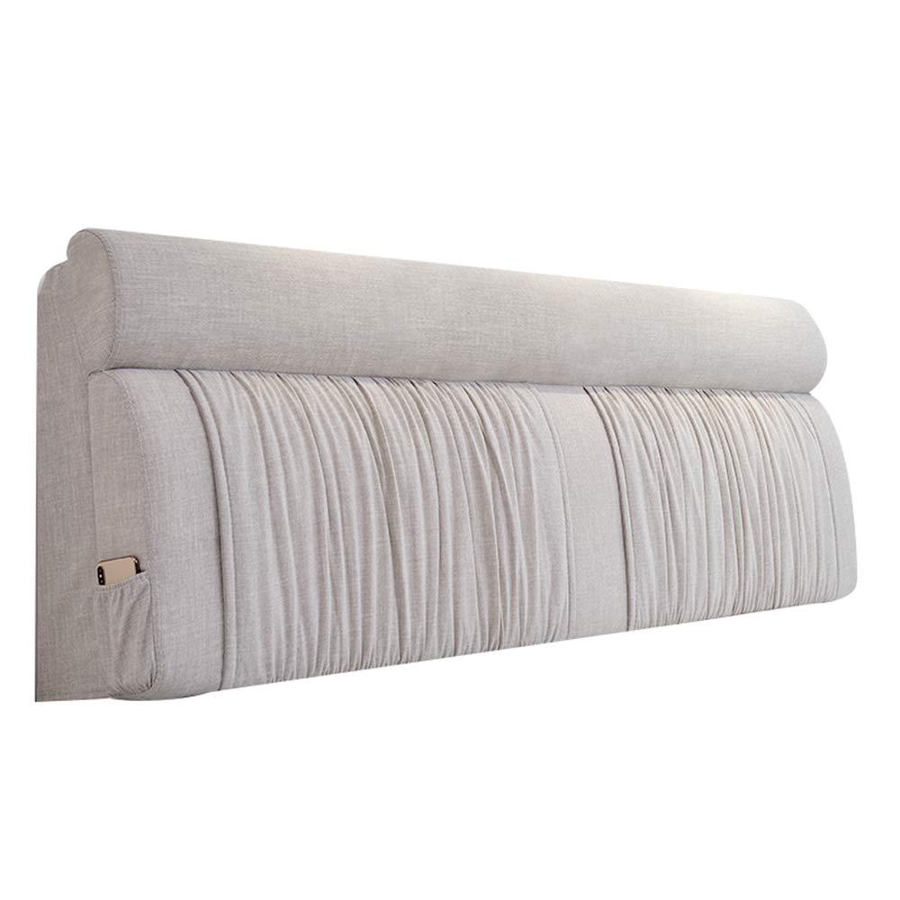 ベッドサイドクッション、ファブリックソフトバッグ無垢材の背もたれ枕取り外し可能と洗える A++ (色 : A, サイズ さいず : 155cm) B07QKVDLM9 A 155cm