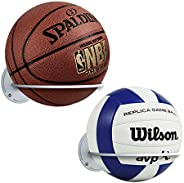 Suchek Steel Ball Holder Wall Mount, Display Rack Storage for Soccer, Basketball, Volleyball (2 Packs)