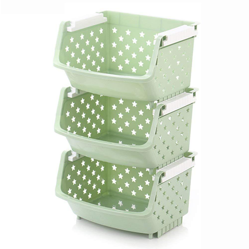 NewbieBoom Armadi Alti Scaffali di stoccaggio Scaffali in plastica Multistrato Scaffali da Cucina Scaffalature per Frutta e Verdura Scaffalature per