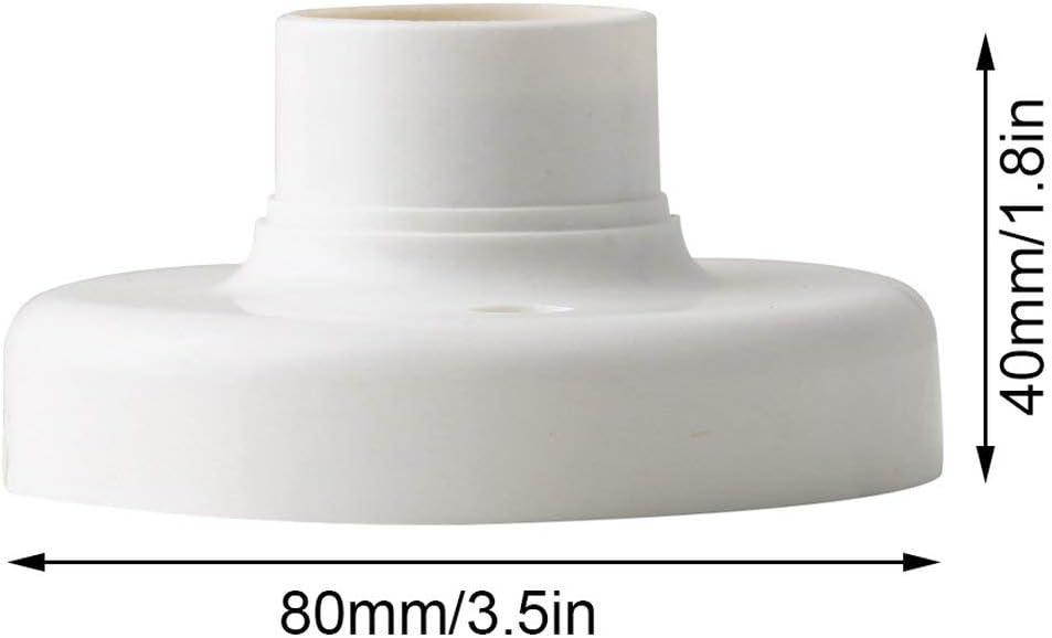 HarveyRudol85 Utile E27 Ronde En Plastique Vis /Ã/€ Base Ampoule Lampe Douille Titulaire Blanc E27 Base Lampe Douille Douille Populaire Support de Lampe