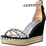 Badgley Mischka Women's Sloan Espadrille Wedge Sandal, Black, 7.5 M US